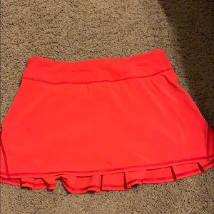 Red Lululemon skirt